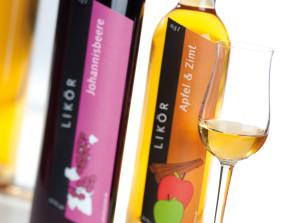 Etiketten für Liköre und Weinbrände